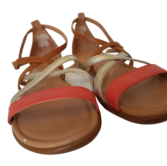 Rockport Tan Strappy Sandals Size 8